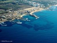 Vue aérienne du port de l'ancienne Césarée