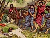 Saul persécuteur des chrétiens - lapidation d'Étienne