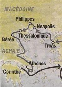 Carte 2e voyage, Macédoine-Achaie